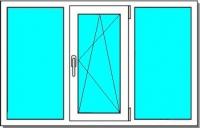 ПВХ окно (2050х1400)